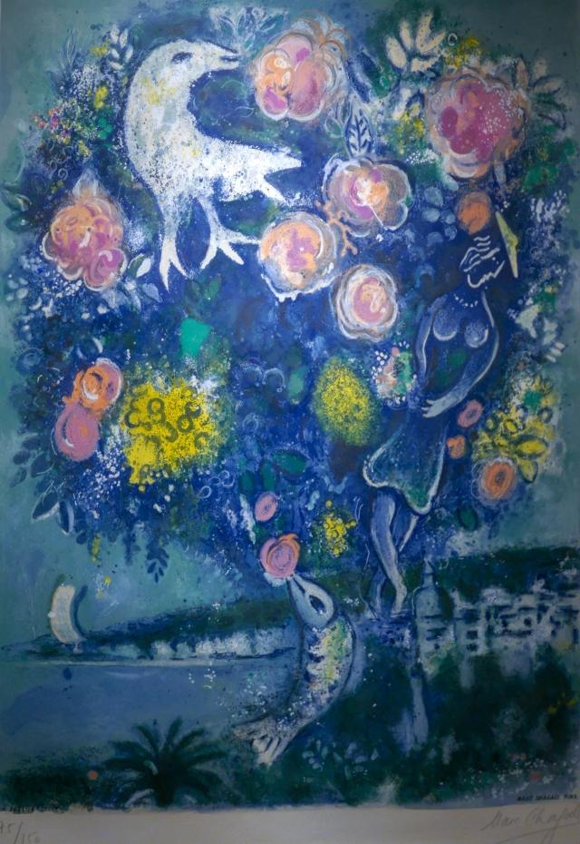 Marc Chagall, La Baie des Anges au Bouquet de Roses ... Chagall Doesburg